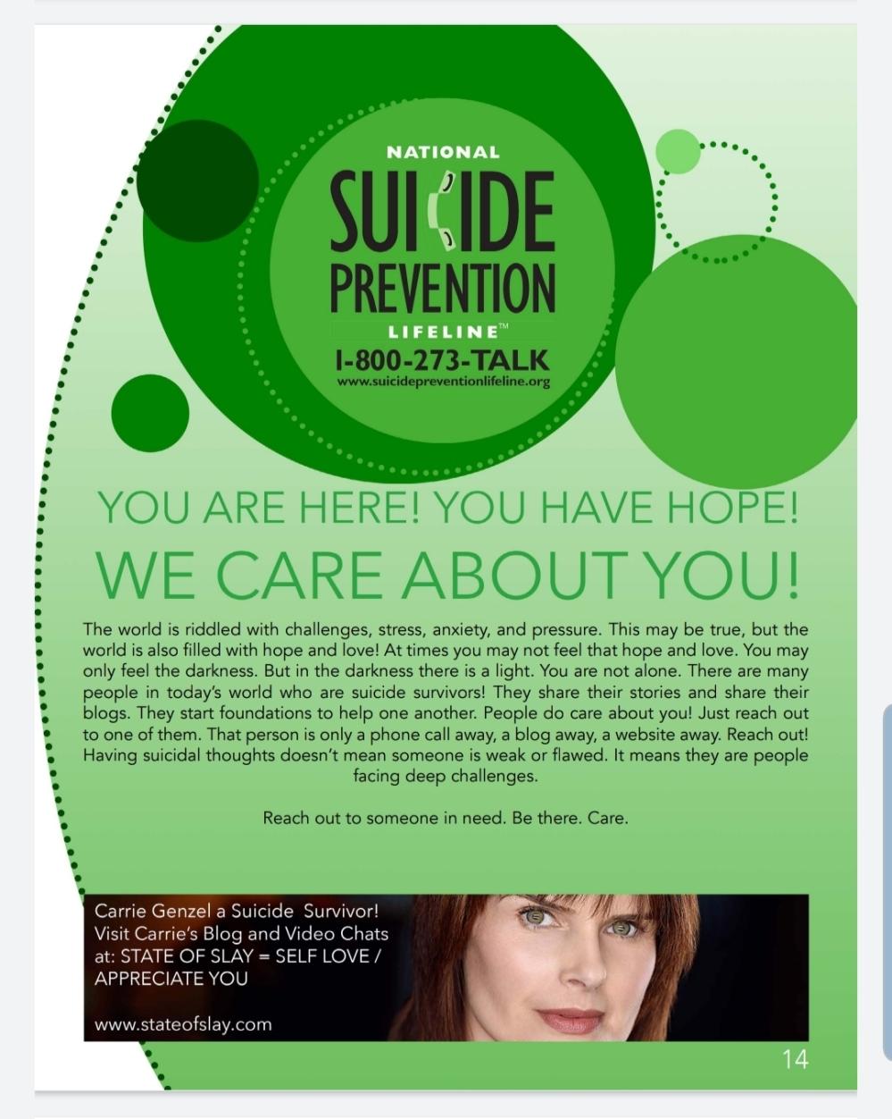 Suicide Book SOS Page