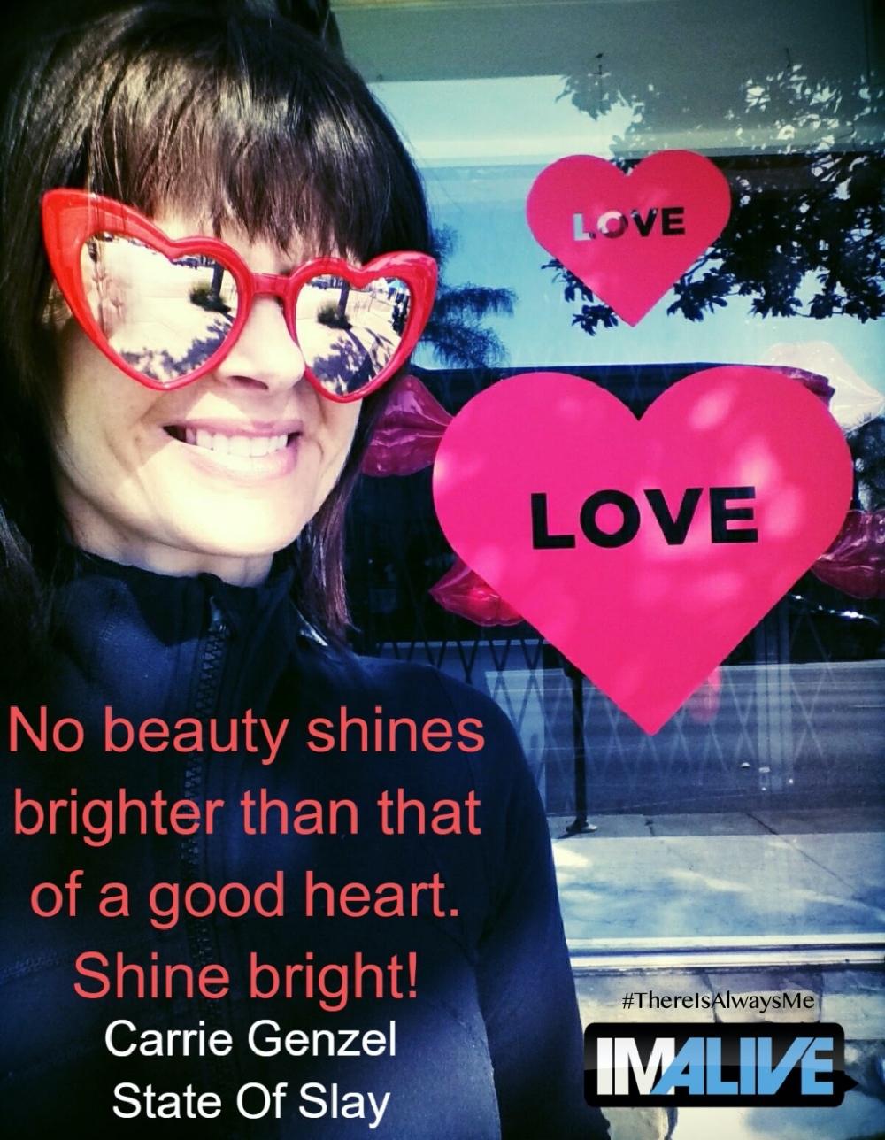 Carrie Genzel IMALIVE V-Day 2020